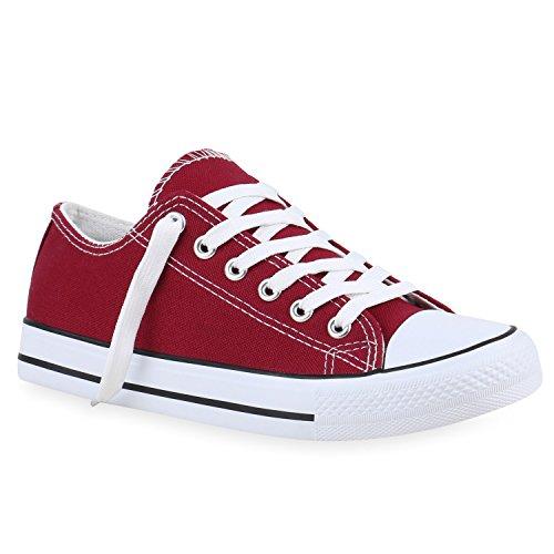 stiefelparadies Flandell - Zapatillas unisex para hombre y mujer, tallas grandes, color Rojo, talla 40 EU