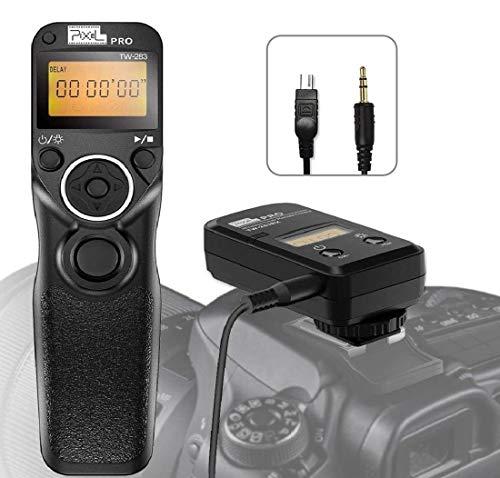 Pixel Inalámbrico Temporizador Mando a Distancia Disparador TW-283 DC2 con Intervalómetro para Nikon Z7, Z6, D750, D780, D7500, D7200, D7100, D7000, D5600, D5500, D5300, D600, P7700, P7800, P950