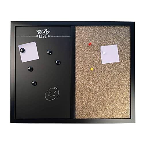 Pizarra magnética de corcho para oficina, hogar, oficina, cocina, 40 x 50 cm, con accesorios