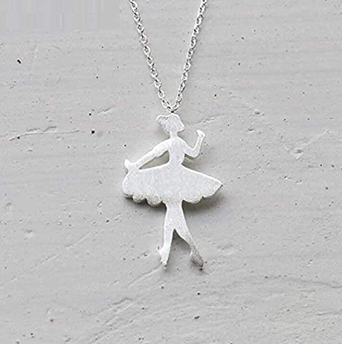 LKLFC Necklace Women Necklace Men Necklace Necklace Dancer Necklace Trend Silver Jewelry Gift Pendant Necklace Girls Boys Gift