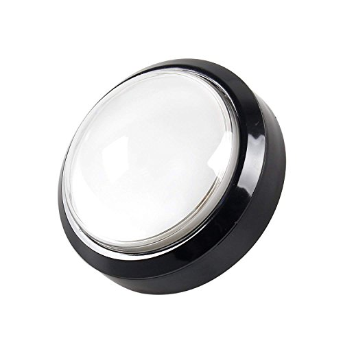 EG STARTS 4 Inches Arcade Buttons 100mm Larger Big Dome Convex Type LED Lit Illuminated Push Button for Compatible Arcade Machine DIY Kit & Raspberry Pi Game Part ( White )