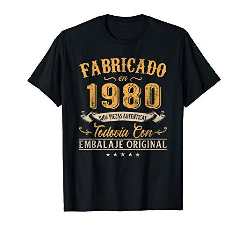 Fabricado En 1980 Regalo Para Hombre 41 Años Cumpleaños Camiseta
