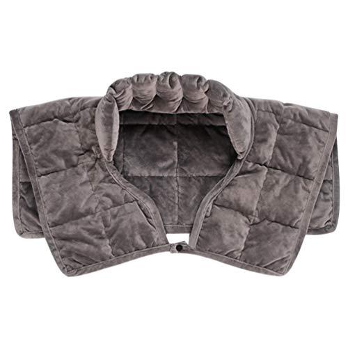Artibetter Schulterwärmer Gewicht Nacken und Schulter Heizkissen Schulter Schutz Neopren Schulterbandage für Damen Herren Zuhause Arbeit Grau