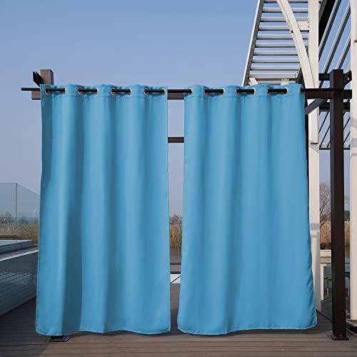 Paneles de Cortina al Aire Libre Impermeable Cortinas de Patio apagón for for Puerta corredera/Foyer/cenador, 1 Panel (Color : E, Size : Tab Top)