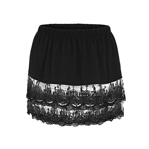 Holshop Mini extensora Ajustable Plisada Falda Decorativa,Falda MultifuncióN con Dobladillo Falso, Minifalda Extensible de Camisa, para SuéTeres, Sudaderas, Chaquetas, Abrigos