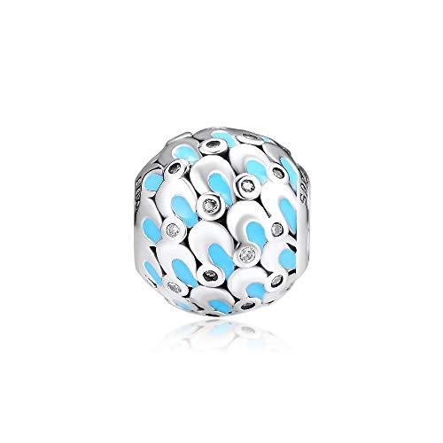 LIIHVYI Pandora Charms para Mujeres Cuentas Plata De Ley 925 Joyas De Glamour En Cascada Compatible con Pulseras Europeos Collars