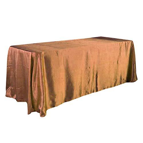 JINZFJG-SX Modische Satin-Tischdecke, modern, schlicht, für Hochzeit, Konferenz, rechteckig, Tischrock, Tischdecke, Veranstaltung, Party, Hotel, Dekoration