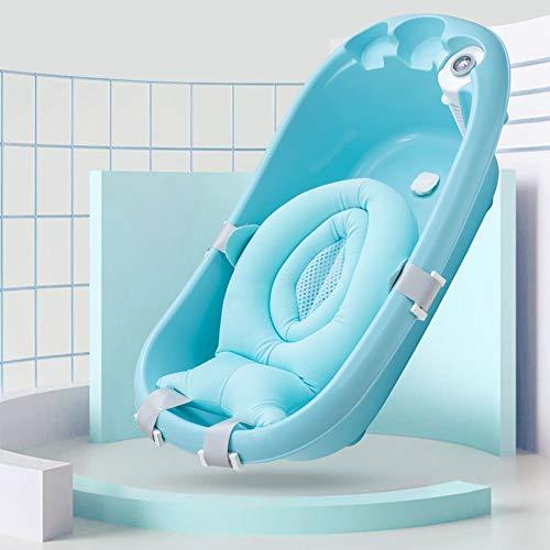 Eve Baby-Badewanne Netz, Baby Shower Net (Für Wanne), Comfortable Non-Slip Badezimmer Sitz Mit Einstellbarer,Blau