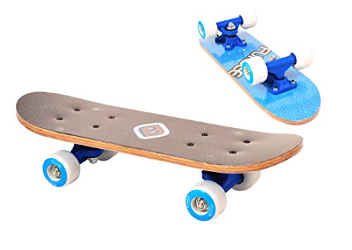 Mini-skate 17' Bleu et Noir - Deck antidérapant - Funbee - Enfants dès 3 ans - D'arpèje - OFUN247B