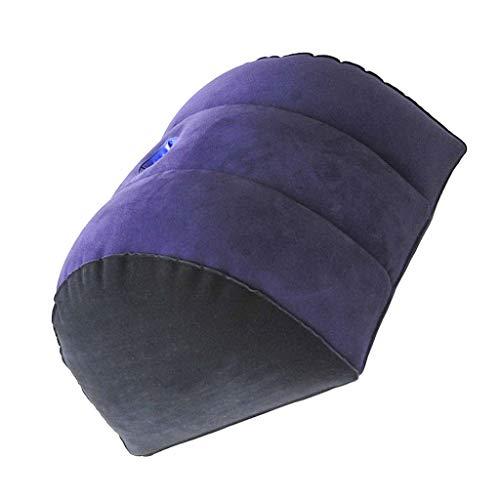 UsmanCR1 Flocado de PVC Almohada Inflable Almohada Inflable Multifuncional Onda Portátil, Almohada De Elevación De Piernas YJL-Q00004