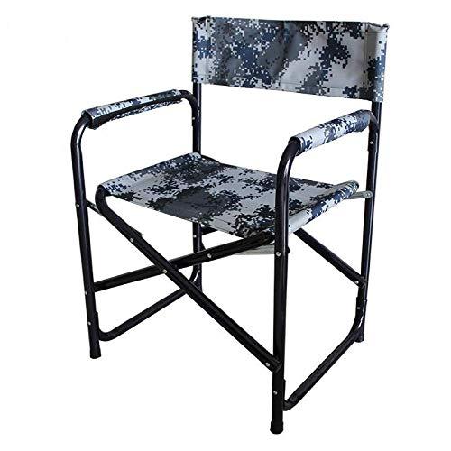 Silla plegable de director de acero de la silla de entrenamiento de la silla del ejército de la silla de la silla plegable de la playa al aire libre