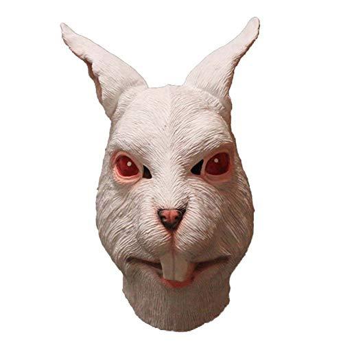 AAWFUL Latex Tierkopf Maske Hund Schaf Ziege Fuchs Hase Nutztier Maske Party Kostüme Theater Halloween