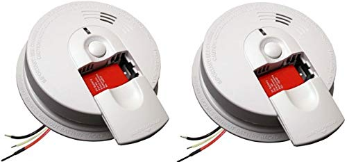 Kidde 21026063 AC Hardwired Smoke Detector Alarm with 9V Back up and Front Load Battery Door (Pack of 2)