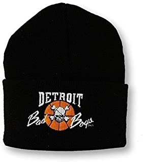 Detroit Pistons Bad Boys Apparel- Historic Vintage NBA Knit Hat