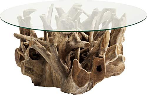 Kare Design - Table Basse Plateau Rond Pied Bois flotté Roots
