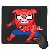リグモスパイダーピッグ マウスパッド ゲーミング オフィス最適 高級感 おしゃれ耐久性が良 付着力が強い30x25x0.3cm