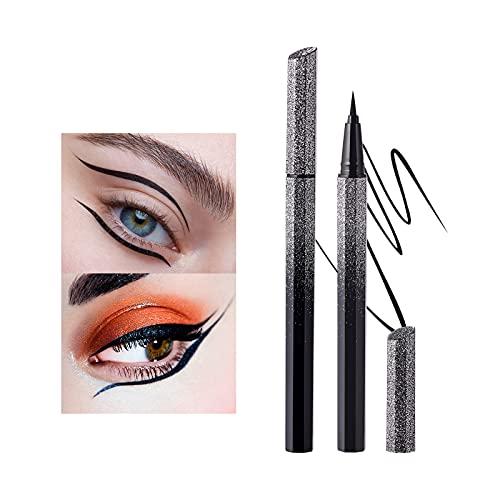 Mimore Color Eyeliner impermeabile a prova di sudore senza sbavature Eyeliner liquido stellato ultrafine ad asciugatura rapida Trucco cosmetico Cruelty Free (black)
