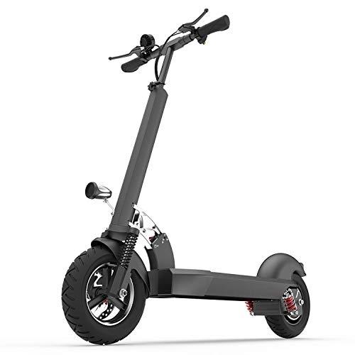 E202 Elektroroller für Erwachsene, 10-Zoll 1000W Last 200 kg, Höchstgeschwindigkeit 55 km/h, Reichweite 50-60 km, geeignet für Fahrten auf dem Lande auf der Straße,Without seat