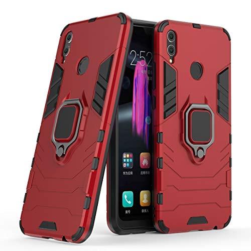 BAIYUNLONG Funda para Huawei Honor 8X, funda para teléfono Huawei Honor 8X, anillo de rotación de 360 grados, funda para teléfono inteligente a prueba de golpes para Huawei Honor 8X (color rojo)
