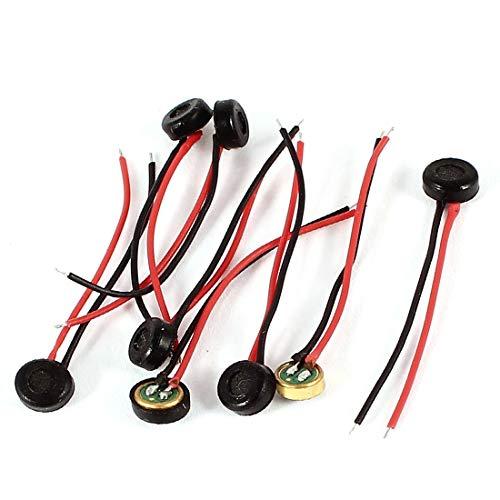 New Lon0167 8 Unids Destacados Dos Cables De eficacia confiable Alambre 4mm x 2mm Cartucho Cilíndrico Recoger Electret Condensador Micrófono(id:2e2 d1 b0 e4e)