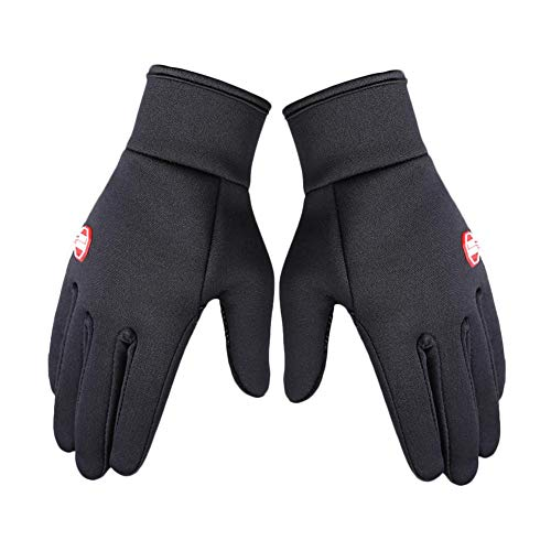 Phrat Winter warme Handschuhe wasserdicht Anti-Rutsch-Touchscreen-Ski-Bergsteiger-Handschuhe für Männer Frauen schwarz