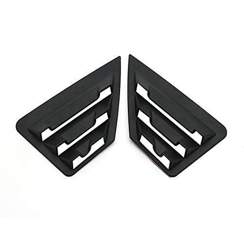 HYSJLS Panel de persianas para ventana lateral trasera para Toyota C-HR CHR 2016 2017 2018 2019 piezas exteriores del coche ABS accesorios de plástico (color negro mate)