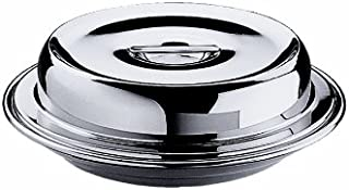 Mepra 28 cm Insulated Plate with Cover, Silver