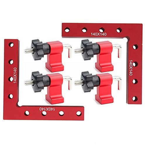 Abrazaderas de ángulo recto, herramienta de carpintería de panel de carpintero, cuadrados de posicionamiento de 90 grados 140x140 mm, para cajas de marcos de cuadros(140X140MM)