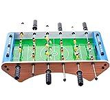 Mesa de futbolín, ensamblar fácilmente Mesa de fútbol de madera Top W / Fútbol, Set de fútbol de mesa para arcades, sala de juegos Padre-niño Interactivo deportes Puzzle juego (Tamaño: s) Jialele
