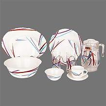 38 Pc Dinnerware Set | With 1Pc Oval Plate+ 6PCs Dinner Plate+ 6PC Rice Plate+ 6pcs Dessert Plate+ 1Pc Big Bowl+ 6PCs Smal...