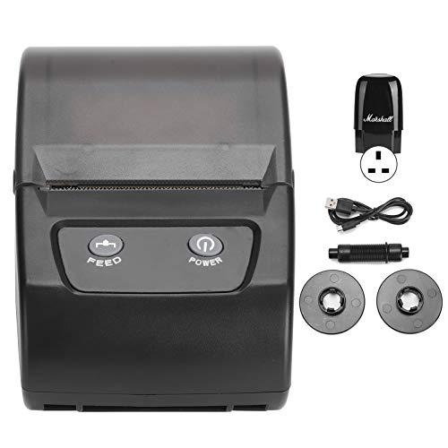 Label Printer, 110‑240V QR Codes Printer, Bluetooth Printing One‑dimensional Code Printing Character for Printing Pattern Printing Text(British regulatory)