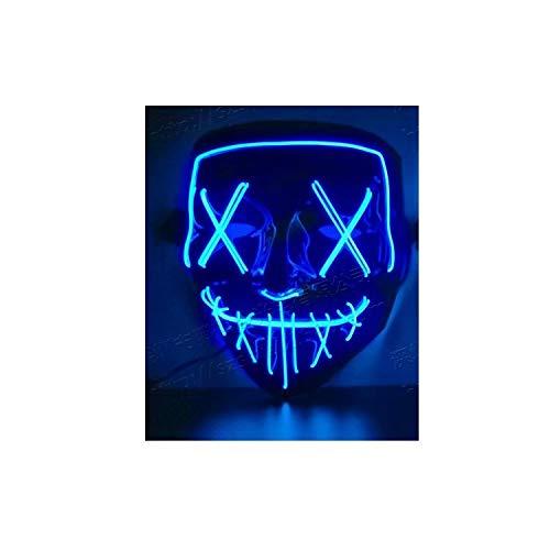 SANDIN - Mscara LED para Halloween o disfraz, color azul