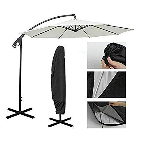 SUNYUE Housse de Protection Parasol à Côté Mât | Résistant à l'eau Polyester & Revêtement PU | pour Jardin, Terrasse, Meubles | Qualité