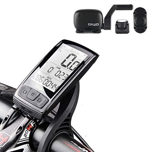 Ordenador de Bicicleta inalámbrico Velocímetro cuentakilómetros - Bluetooth y Ant Ciclismo Temporizador,...