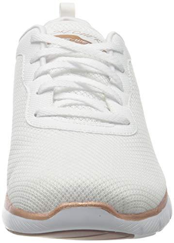 Skechers Flex Appeal 3.0-First Insight, Zapatillas Mujer, Varios Colores (Wtrg Black Mesh/Trim), 37 EU