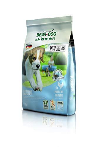 BEWI DOG Puppy [3 kg] Welpenfutter | Trockenfutter für Hundewelpen bis zum 4. Monat | ohne Weizen & Soja | 80% tierisches Eiweiß