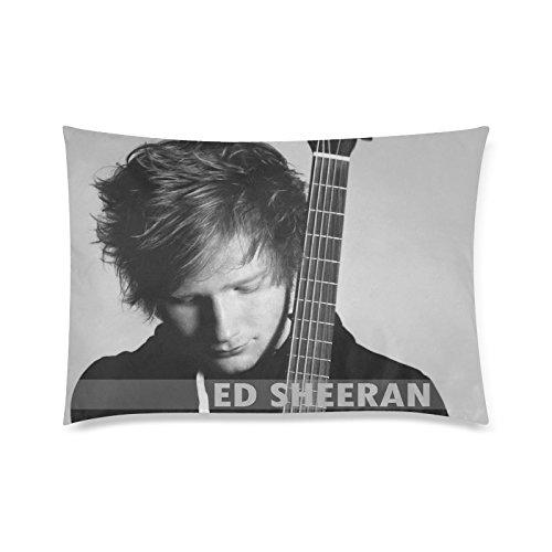 Ed Sheeran Custom ropa de cama en blanco y negro fundas de almohada manta funda de almohada de 20x 30(dos lados) por ttplay Store