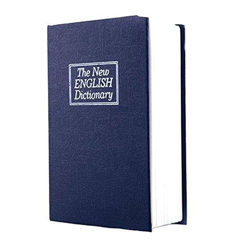 Screat Book Safe/Book Safe/Secret Bank/Safe/cassaforte a forma di libro con chiusura a chiave, acciaio INOX