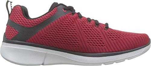 Skechers Equalizer 3.0-52988, Men's Low Top Trainers, Red (Red Black Rdbk), 9.5 UK (44 EU)