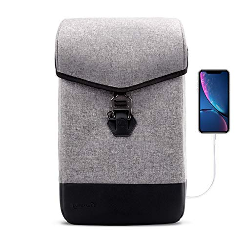 The Hustle - Anti Theft Travel & Business Laptop Backpack, Slim Durable Laptops Backpack with...