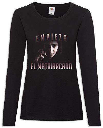 Urban Backwoods Empieza El Matriarcado Women T-Shirt Mujer Camiseta de Manga Larga Negro Talla XL