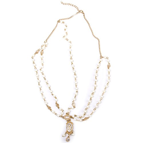 LOVIVER Boho Victoria Metal Bead Crown Head Cadena Diadema Diadema Vestido De...