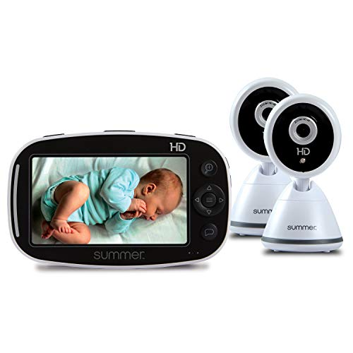 Review Summer Infant Baby Pixel Zoom HD Duo 5.0 High Definition Video Baby Monitor with 2 Cameras