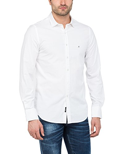 REPLAY M4941d.000.80279a Camisa, Blanco (White 1), X-Large para Hombre