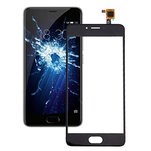 Lingland Cell Phone kit for Meizu M3s / Meilan 3s Touch Panel(Black) Outside Glass Touch Panel Screen (Color : Black)