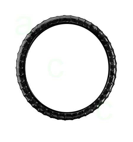 Ergonomic Contour Grove Grip Steering Wheel Cover - Patent Leather Black