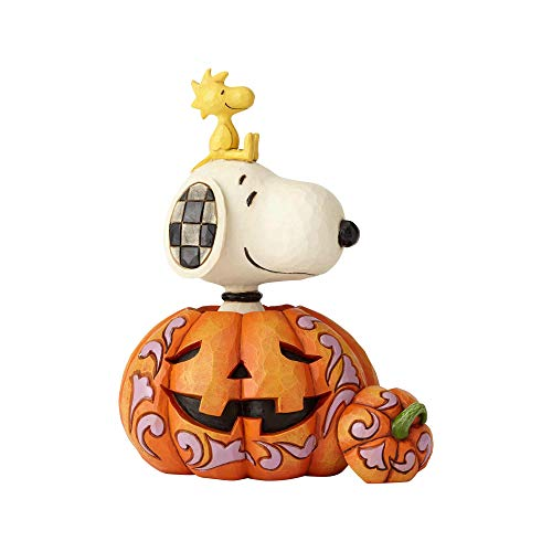 ENESCO Snoopy Woodstock in Pumpkin Figurine Standard