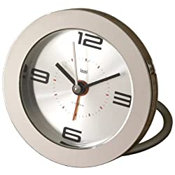 BAI Round Diecast Solid Metal Travel Alarm Clock, Velocity