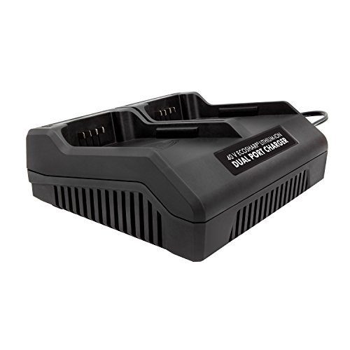 Snow Joe + Sun Joe iCHRG40-DPC EcoSharp Lithium-Ion Battery Dual Port Charger | 40 Volt