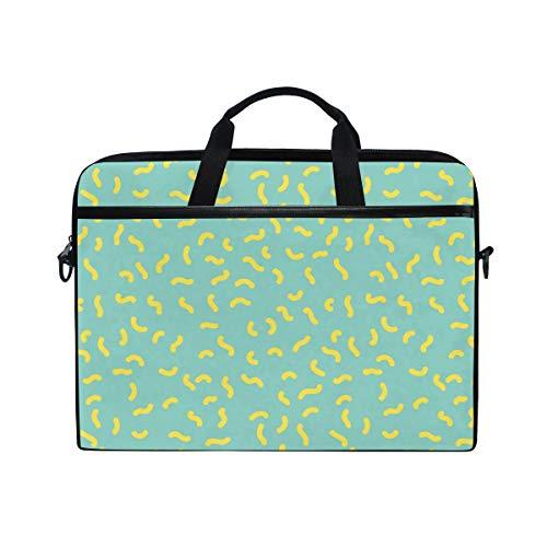 FANTAZIO Novelty Creative Light Green Pattern Laptop Shoulder Messenger Bag Case for 14 Inch 15 Inch Laptop Case Laptop Briefcase